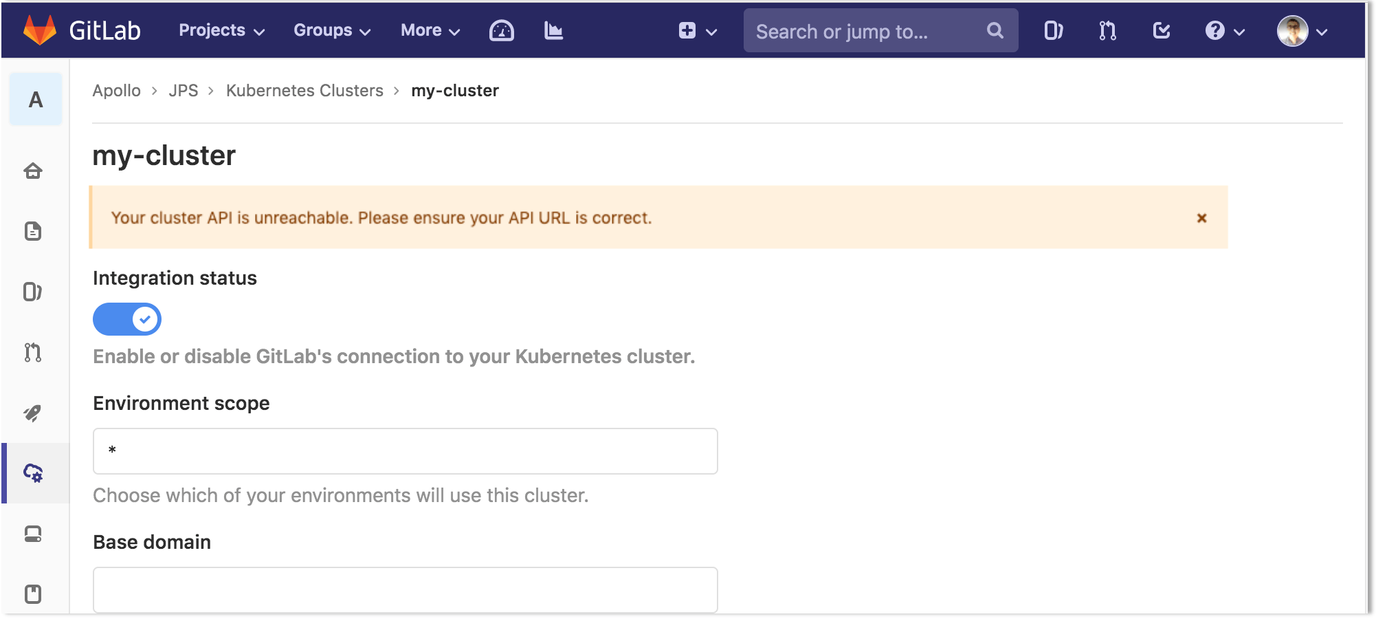 Validate Kubernetes credentials provided at cluster creation