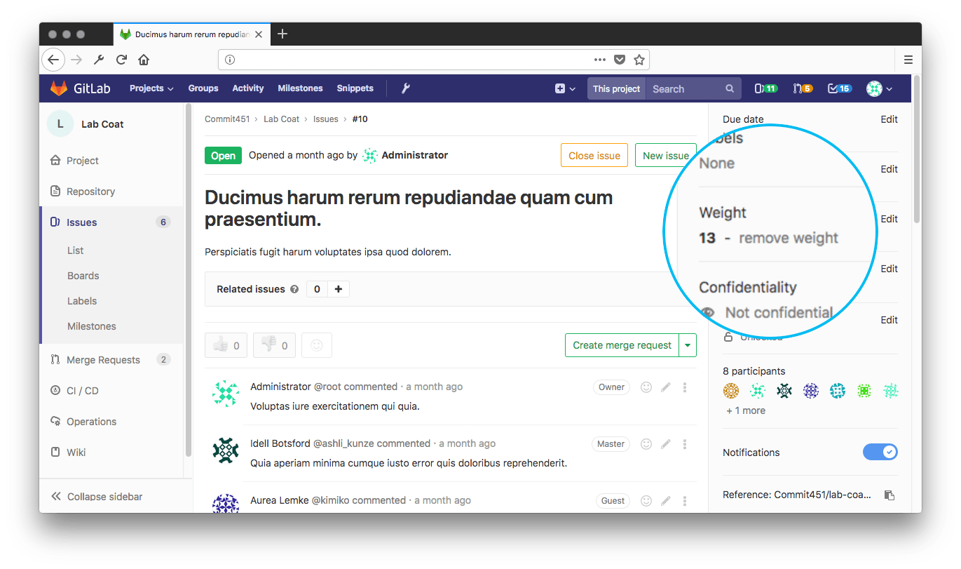 Issue Weight Gitlab