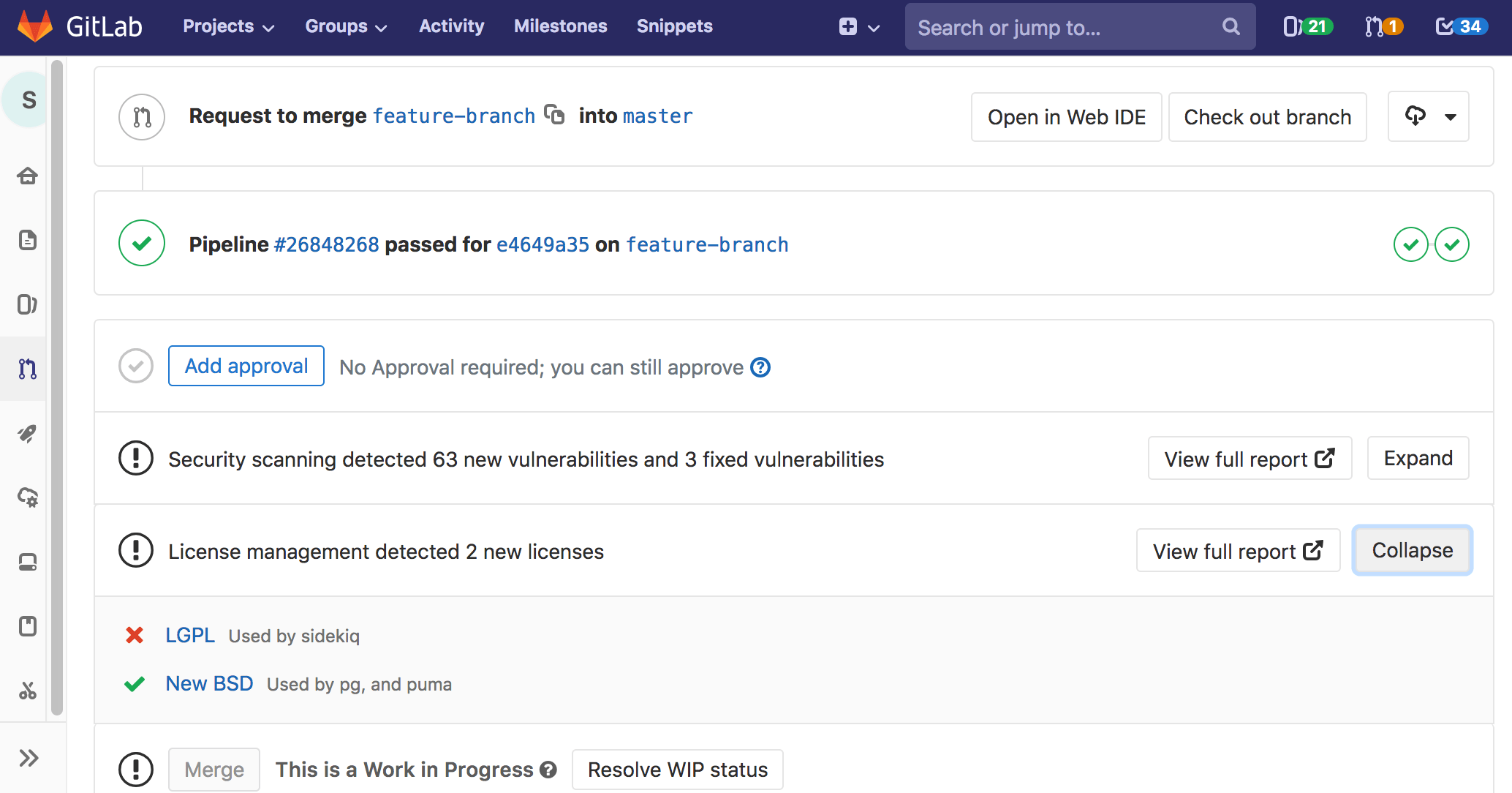 GitLab License Management